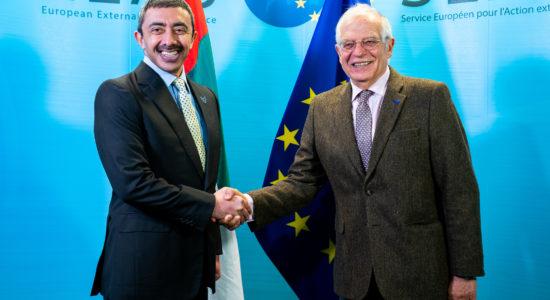 Sheikh Abdullah bin Zayed Al Nahyan, Joseph Borrell